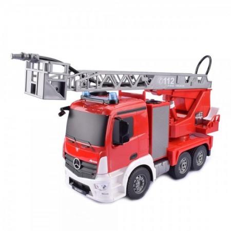 Camion pompieri Mercedes Arocs cu telecomanda Mondo 63512 scara 1:20 care stropeste