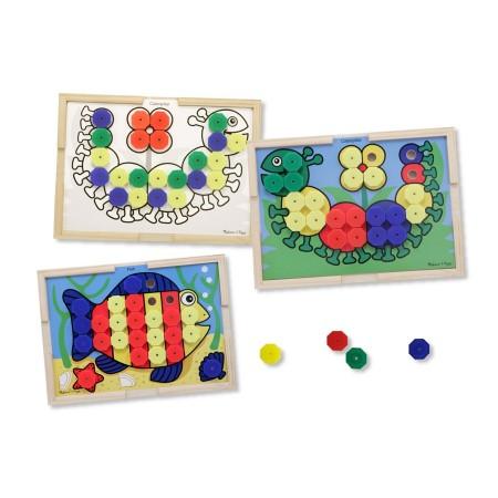 Mozaic din lemn cu culori Melissa and Doug