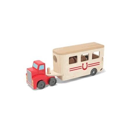 Camion Transportor de Cai cu Remorca Melissa and Doug